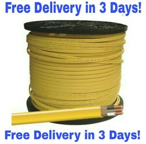 12/2 W/GROUND ROMEX INDOOR ELECTRICAL WIRE 50' FEET (YELLOW OR PINK)