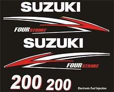 Adesivi motore marino fuoribordo Suzuki 200hp four stroke