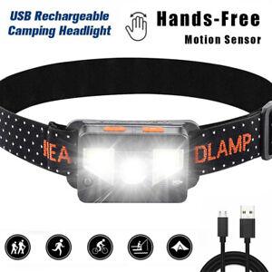 LED Stirnlampe 1000 Lumen, USB aufladbare Kopflampe fürs Joggen, Angeln, Campen