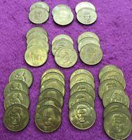 1998 McDonalds Olympics NHL Hockey Brass Coins LOT (37) limited GRETZKY Lindros