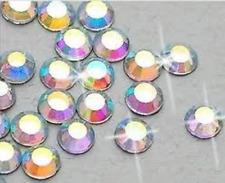 Lote De Trabajo Grande De 4mm (1152 Piezas) De Gran Calidad Hot Fix Hotfix Cristal AB Dorso Plano