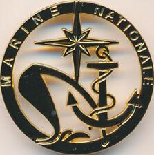 Insigne de béret des Personnels de la Marine Nationale, 2 pontets, Bouss.(11066)
