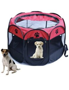Pet Play Pen Portable Cage Durable Fabric Foldable Travel Tent Small Size