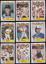 1988 Topps Glossy All-Star Set 1-22 Cal Ripken Jr Ryne Sandberg Rickey Henderson