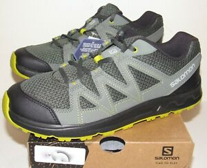 Salomon Blackstonia Mens 10 Hiking Shoes NIB Gray Yellow Trail Running Sneakers
