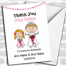 Thank You For Being Our Bridesmaid Thank You Customised Card