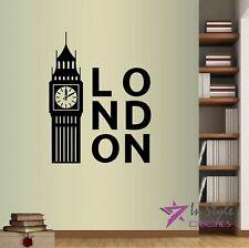 Vinyl Decal London Big Ben United Kingdom UK England Room Wall Art Sticker 653