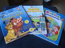 Activity Books Basics Kindergarten, Math Word Problems & Disney Math (Ages 5-6)