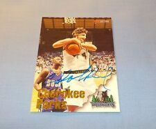 Cherokee Parks Signed Autographed 1997 SkyBox NBA Hoops Card Timberwolves