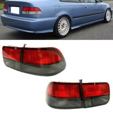 Lights Rear fit for Honda Civic Coupe For 96-00 Smoke Red 2Dr Brake Lamps Tail