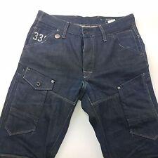 G-Star Raw 5620 3D Mens Jeans W32 L33 Dark Blue Regular Fit Tapered High Rise