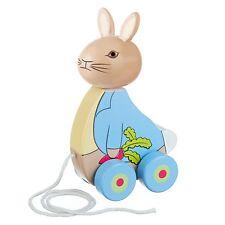 Wooden Peter Rabbit Pull Along, Beatrix Potter, 1st birthday present,Gift Wrap