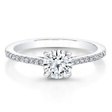 950 Platinum 0.71Ct Round Cut Genuine Real Diamond Engagement Rings Size K