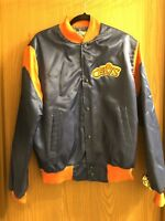 VTG NBA Cleveland Cavaliers Cavs Satin Snap Jacket Sz Med by Chalk Line