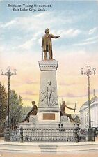 Utah postcard Salt Lake City Brigham Young Monument
