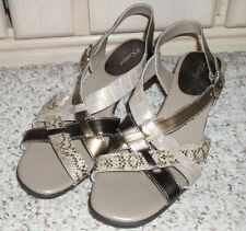 9c013614e6e9 New~I LOVE COMFORT  Sunshine  Strappy Sandals Shoes~Snake Pattern~Browns