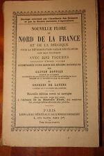 BOTANIQUE Bonnier De Layens Nouvelle flore Nord de la France et  Belgique 1950