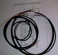 IMPIANTO ELETTRICO ELECTRICAL WIRING MOTO GUZZI DINGO 50 cc.CON SCHEMA ELETTRICO