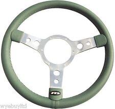 "14"" Demi cuvette Vert vinyle volant avec poli 3 rayons centre"