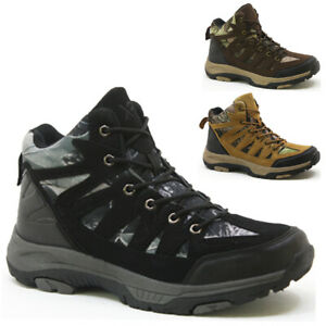 MENS HIKING BOOTS NEW WALKING ANKLE WINTER TRAIL TREKKING TRAINERS SHOES SIZE