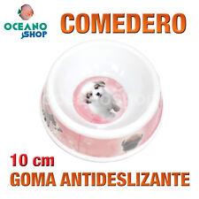 COMEDERO GATO PERRO GOMA ANTIDESLIZANTE DISEÑO PERRITOS PLÁSTICO 10cm L118 2369