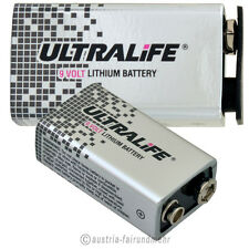 """1x LITHIUM 9V Block ULTRALIFE Hi ENERGY Batterie U9VL"