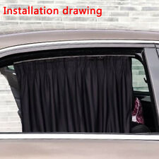 Car UV Protection Sun Shade Curtains Side Window Visor Mesh Cover Shield Cotton