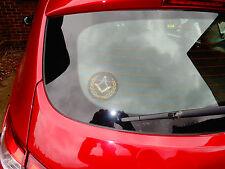 Masonic , Freemason car sticker  internal self cling square and compass sticker