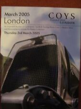 Coy's Car Auction Catalogue 3 March 2005 - Royal Horticultural Hall