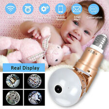 360° WiFi 1080P HD Hidden IP Camera Light Bulb Home Baby Security Video SPY Cam