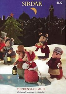 SIRDAR Dickensian Mice  knitting pattern - ALAN DART