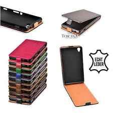% FLEXI Handytasche Echt Leder Tasche Schutzhülle Flip Case Cover LG G3 Mini