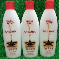 (16,40€/L) 3x  Swiss o Par ARGANÖL SPÜLUNG -Intensivpflege für trockenes Haar