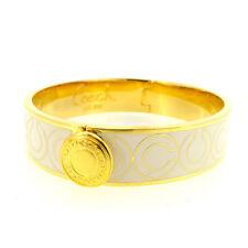 Coach Bangle Bracelet White Gold Woman Authentic Used P182