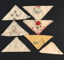 Lot of 7 Vintage Handkerchiefs