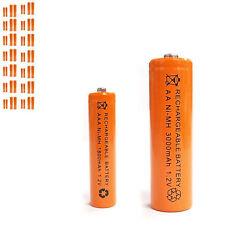 28 AAA 28 AA 1800mAh 3000mAh Ni-MH rechargeable battery Solar Light MP3 Orange