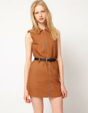 Antipodium Room Service Mini Shirt Dress in Tan UK 12-EU 40/US 8 RRP £166