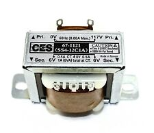 Power Transformer, 117VAC -> 12VAC Center Tap (6_0_6), 1A ( 28N072 )