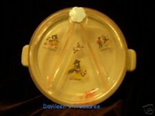 Vintage Baby Dish, Plastic with Enclosed Toys