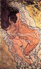 Embrace Lovers II Artist Egon Schiele Art Poster -24x36