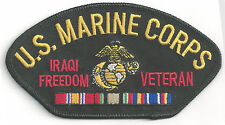 IRAQI FREEDOM VET - USMC/CAMPAIGN RIBBON -IRON ON PATCH