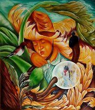 NIÑO CAMPESINO Cuba Original Art Painting Canvas YOANDRIS PEREZ BATISTA