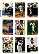 1993 BOWMAN BASEBALL Key cards, U-PICK $1.95 AND UP, NM/M.