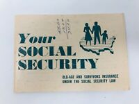 Rare Your Social Security Booklet Pamphlet 1950s 50s 1954 Information