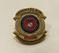 2002 Coca-Cola Veterans Day RARE Pin! Navy United States Marine Corps! Military