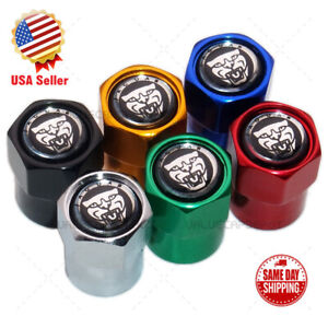 Hex Leopard Head Logo Car Wheels Tire Air Valve Caps Stem Dust Cover Sport