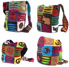 Patchwork Handbags - Hippy Boho Bags for Student or Festivals Sling Shoulder Bag