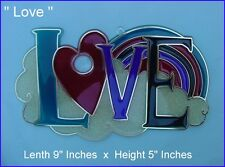 "Acrylic / Epoxy  Suncatchers - "" LOVE """