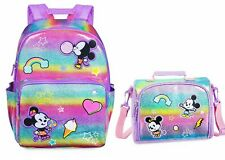 NWT Disney Store Minnie and Mickey Mouse Backpack & Matching Lunch Box Set
