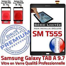 Ecran PREMIUM Noir Metallic Adhésif Prémonté Samsung T555 TAB A Vitre Tactile